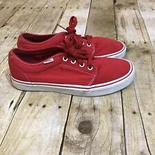 8ee075a5636 VANS SHOES Sneakers Red White Men 8 Women s 9.5 Canvas Low-top Skateboard