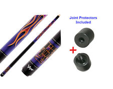 Viper Underground 50-0656 The Torch Pool Cue Stick 18-21 oz & Joint Protectors