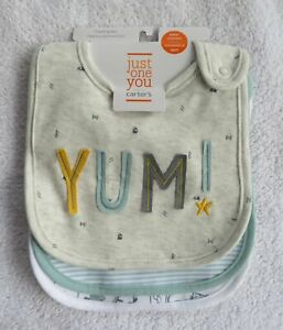 NWT Carter's Just One You Water Resistant Baby Bibs 3 Pack