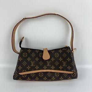 Vintage Louis Vuitton Monogram Brown Leather Shoulder Bag
