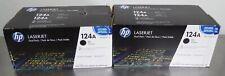 T163009 Lot (2) HP Q6000AD Dual Pack 124A Toner Cartridges (4 Cartridges Total)