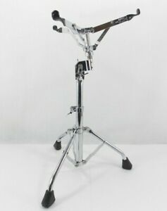 Ludwig Atlas Snare Stand Vintage 1970s Metal Wing Nuts Tube Legs Rubber Feet