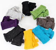 Pulswärmer Stulpen handgestrickt 10 Farben 100% Wolle mit & ohne Daumen Nepal