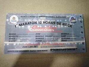 MARATÓN 12 H DE ROCK JUEVES 6 DE DICIEMBRE - ENTRADA TICKET