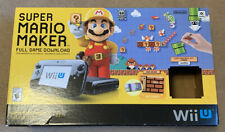 NINTENDO Wii U SUPER MARIO MAKER DELUXE SET CONSOLE SYSTEM BOX ONLY READ