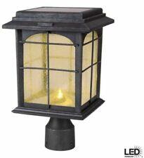 Hampton Automatic Dusk Light Hand Painted Post Lantern Solar Powered LED Vintage