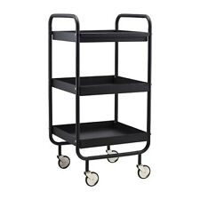 Black Multifunctional Trolley Table by House Doctor