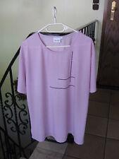 * GINA LAURA *  Damen T - Shirt - Gr. XL - Kurzarm - Flieder -Polyester/Viskose