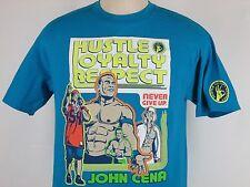 JOHN CENA WWE T Shirt AUTHENTIC WWE Wear U C ME  Blue Size L MINT