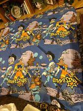 Bravestarr Vintage Full Flat Bed Sheet 1986 Mattel TV Filmation Cartoon Material