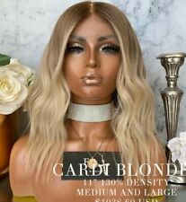 Freedom Couture Human Hair Full Lace Wig CARDI B Bleached Knots #2