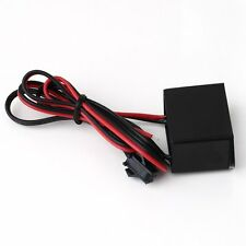 New Black 12V DC to AC Inverter for EL Lamp Wire Electroluminescent 5M Meters HE