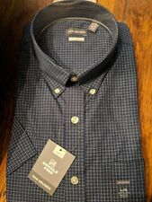 NWT Van Heusen Large Short Sleeve Classic Fit Men's Dress Shirt | Blue