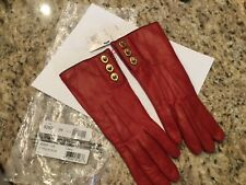 Coach 3 Turnlock leather gloves size 7 1/2