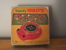 VINTAGE GAMBLING TOY HANDY ROULETTE BY WACO, JAPAN - WORKING - IN ORIGINAL BOX