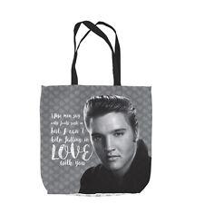 Can't help in calo in Love Elvis Design tote bag shopping regalo di San Valentino
