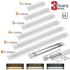LED Batten Tube Light 4FT 5FT 8FT Linear Slimline Panel Ceiling Lights Wall Lamp