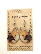 WOOD BADGE SPIRIT OF NATURE FOX EARRINGS 1 WOODBADGE
