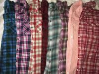 Eddie Bauer Plaid Flannel Shirt Women's SMALL (Variety) Pick and Buy!