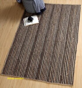 Rug 100% Natural Cotton Jute Modern Living  Carpet Home Decor Style Area Rug