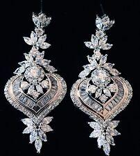 EARRING using Swarovski Crystal Dangle Drop Wedding Bridal Rhodium Silver SW56