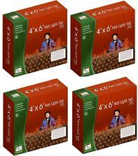 (4) Noma 48953-88 Holiday Wonderland 150 ct 4' x 6' Red Net Christmas Lights