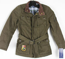 Polo Ralph Lauren Jacket Coat Boys 6X Military Flight Wings Belted Cotton