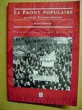 Témoignages récits  Le front populaire dans le Valenciennois /J2