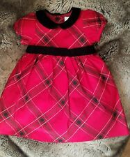 Gymboree Infant Red Plaid Christmas Holiday Dress Slip Bloomers SIZE 6-12 months