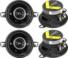 "(4) Kicker 43Dsc3504 3.5"" Inches 160W Max 2-Way Car Audio Power Speakers Package"