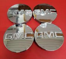 "Gmc Chrome Center Cap Yukon Denali Sierra 3.25"" 83mm 18 20 22 Wheel 9595759 4pc"