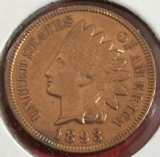 1893 US Indian Head Cent! AU Details! Old US Coins!