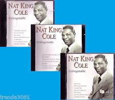 NAT KING COLE Unforgettalbe 3CD Classic 50s 60s Pop R&B Anthology Greatest Hits