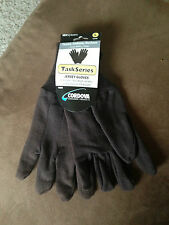 1 Dozen Large Brown Jersey Gloves