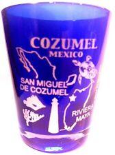 COZUMEL MEXICO COBALT BLUE SHOT GLASS SHOTGLASS