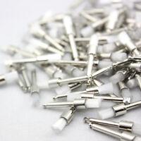 100 PCS Disposable Flat Type Dental White Nylon Polishing Polisher Prophy Brush