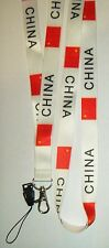 China Chinese Country Flag Lanyard Neck Strap for your Mobile Phone MP3 IPOD