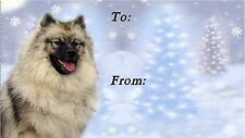 Keeshond Christmas Labels by Starprint