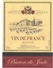 Etiquette de vin - Vin de France - Baron de Jade