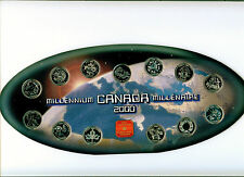2000 CANADA MILLENNIUM QUARTER  SET +MEDAL PL IN PACKAGE