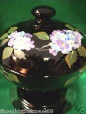 SHELLEY Fenton CANDY Blue Hydrangeas/Black 9550QB NIB * FREE USA SHIPPING