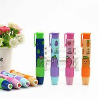 Creative Fruit Press Rubber Eraser For Kids Student School Stationery Supplies