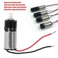 Micro Mini Planetary Gear Motor 6mm DC 3V 120RPM 1-4 Stage Coreless Gearbox DIY