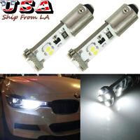 Ba9 64132 Error Free Parking Light Bulbs Kit 6000K White For BMW F30 3 Series