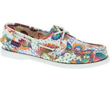 Sebago Docksides LIBERTY ART Fabrics Floreale Paisley Mocassini Deck Shoes 8 41 10