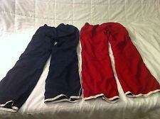 OLD NAVY Unisex Wind Sports/Track Play Pants 2 Pair Size XS 4-5 EUC