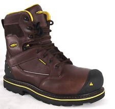"Keen Utility Chicago 8"" Steel Toe Waterproof Safety Work Boots"