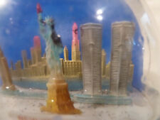World Trade Center twin towers snow globe, Statue of Liberty, Empire State Bldg.