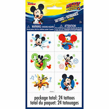 24 Disney Mickey Mouse Temporary Tattoos Birthday Party Bag Fillers
