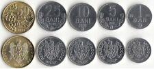 MOLDOVA: 5 UNCIRCULATED COINS, 1 TO 50 BANI SET